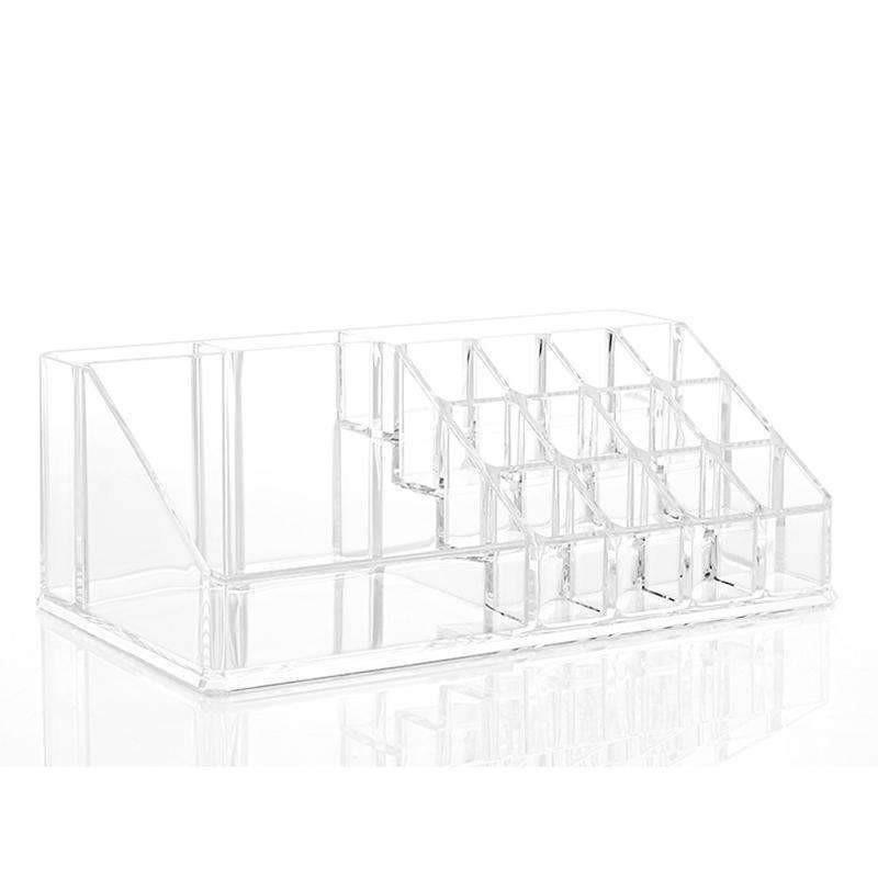 16 Cells Acrylic Cosmetic Organizer Lipstick Makeup Holder Jewelry Storage The Perfectionist 20 Compartment