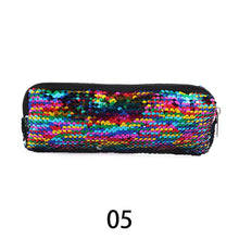 Load image into Gallery viewer, 1PC Colorful Mermaid Sequin Cosmetic Bag Handbags Makeup Organizer Case Women Glitter Paillettes Pouch Reversible Double Color