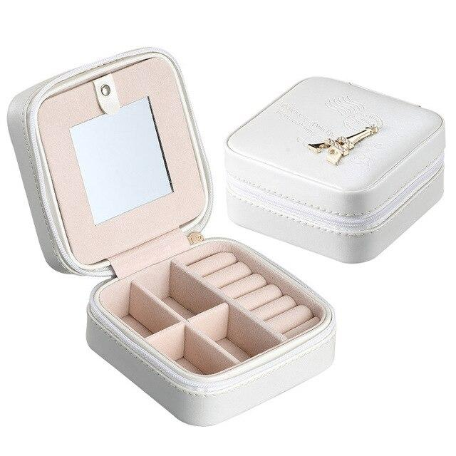 2017 Storage Box Earring Jewelry Box Makeup organizer Rangement maquillage Boite de rangement Portable Home decoration supplies