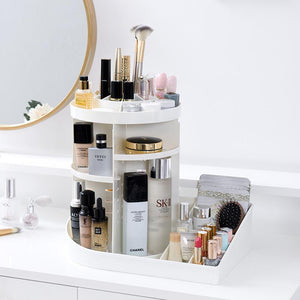 360 rotating cosmetic storage box