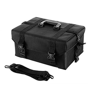 Cheap happybuy 2 in 1 nylon makeup case soft with wheels travel cosmetic cases detachable professional rolling trolley makeup travel case oxford vanity portable makeup artist organizer box 2in1 case