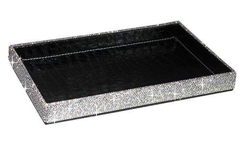 Featured bestblingbling classic bling rhinestone jewelry or makeup storage box organizer display storage case with lock for desk or table silver