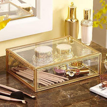 Load image into Gallery viewer, The best pengke x large gold makeup organizer clear jewelry and cosmetic storage case large capacity for beauty product organizer 4 drawer keep your vanity organized 10 5x8 1x12 5