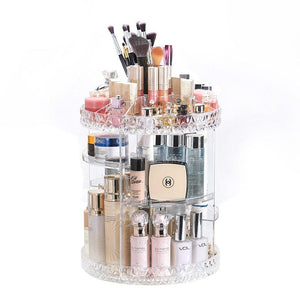 Diamond Makeup Organizer Adjustable Cosmetic Storage