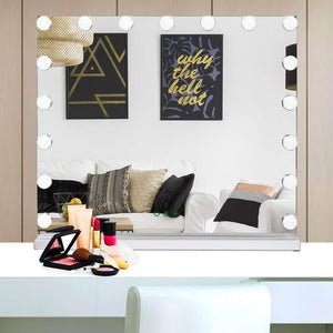 Discover waytrim lighted vanity mirror hollywood style makeup cosmetic mirrors with 17 dimmable led bulbs 3 color lighting touch control design white
