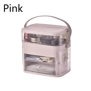 Waterproof Makeup Organizer Modern Jewelry and Cosmetic Storage Display Boxes with Handle