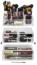 Load image into Gallery viewer, Related sorbus acrylic cosmetics makeup and jewelry storage case display sets interlocking drawers to create your own specially designed makeup counter stackable and interchangeable
