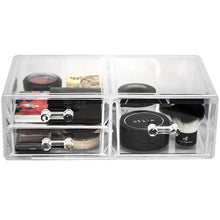 Load image into Gallery viewer, Results sorbus acrylic cosmetics makeup and jewelry storage case display sets interlocking drawers to create your own specially designed makeup counter stackable and interchangeable