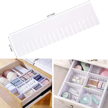 Load image into Gallery viewer, Related e bayker drawer organizer drawer dividers diy arbitrary splicing sub grid household storage spacer finishing shelves for home tidy closet desk makeup socks underwear scarves 5 7x17 7in 5 pack