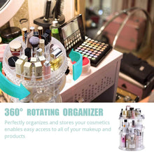 Load image into Gallery viewer, The best makeup organizer acrylic cosmetic organizer vanity and rotating makeup storage perfume organizer with large capacity fit cosmetics perfume brush and more for countertop bathroom and bedroom