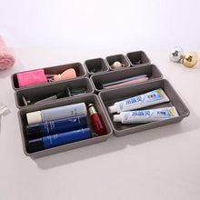 Load image into Gallery viewer, Plastic Desk Top Drawer Cosmetic Organizer Home Storage Box