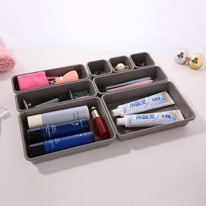 Plastic Desk Top Drawer Cosmetic Organizer Home Storage Box