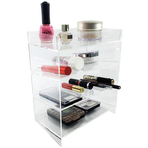#COM0219 Acrylic 4-Shelf Makeup Organizer Cosmetic Palette Display