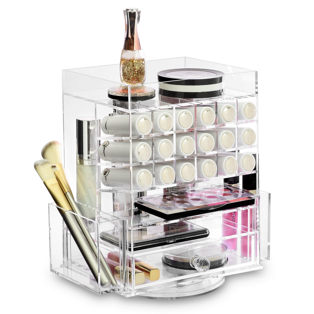#COM0302CL Acrylic Multi-functional Jewelry Cosmetic Storage Makeup Organizer