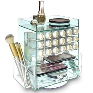 #COM0302GN Acrylic Multi-functional Jewelry Cosmetic Storage Makeup Organizer