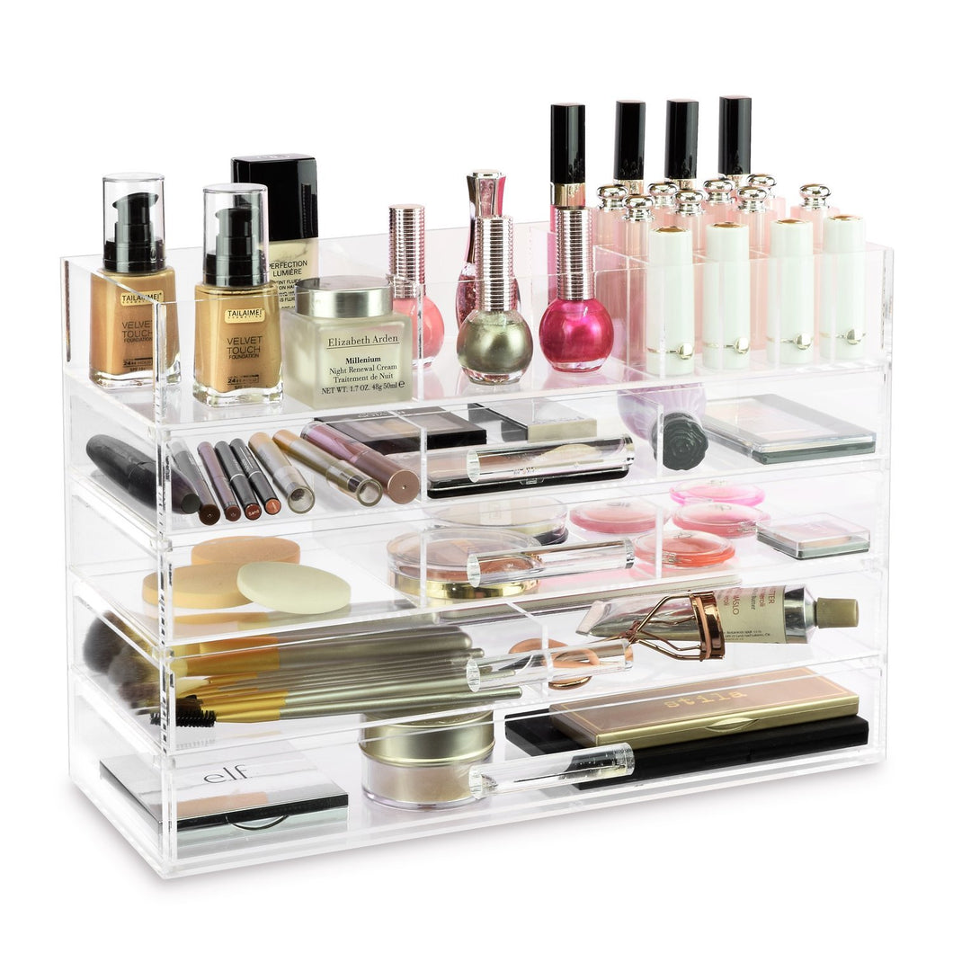 #COM076 Large Acrylic Makeup Organizer Storage Box