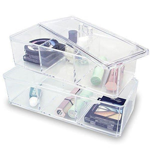 #COM172-1 Two Layer Acrylic Makeup Organizer Box
