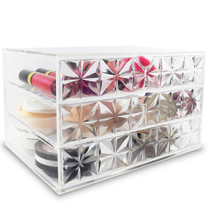 #COM653D Acrylic Makeup Organizer Cosmetic Case Makeup Brush Holder