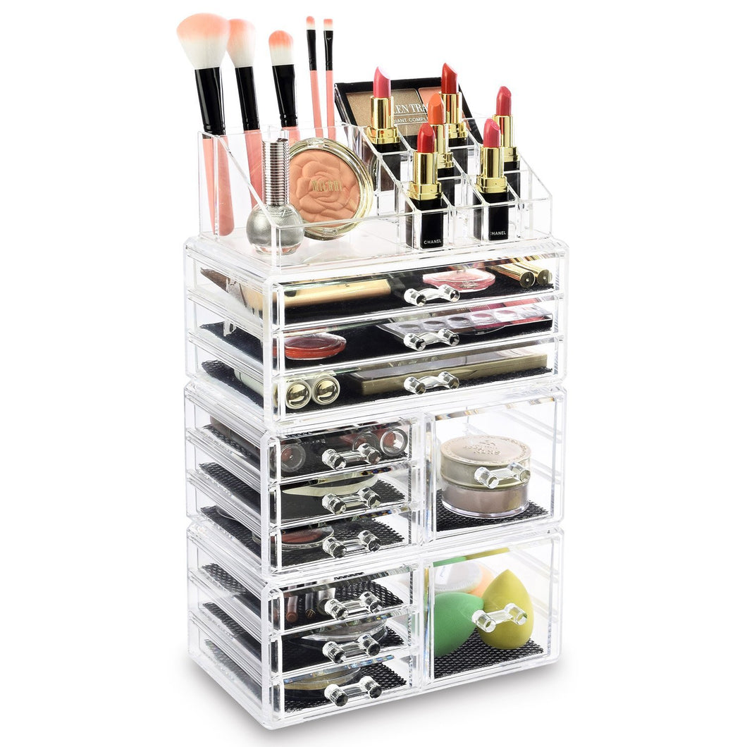 #COML4210 Makeup Organizer, Make up Organizers and Storage Box,Cosmetic Organizer Drawers, 4 Pcs Set