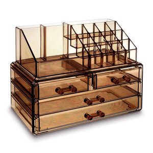 #COMS2915BR Jewelry & Makeup Organizer, Light Brown