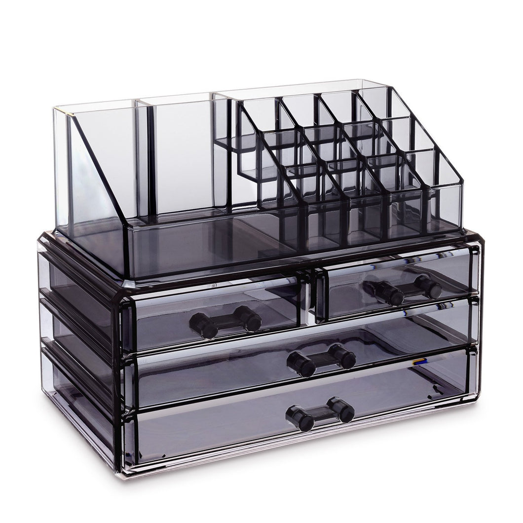 #COMS2915G Jewelry & Makeup Organizer, Translucent gray