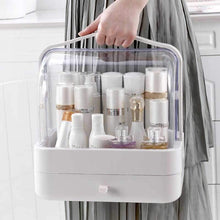 Load image into Gallery viewer, Waterproof Dustproof Makeup Organizer Large Cosmetic and Jewelry Storage