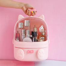 Load image into Gallery viewer, Cute Waterproof Makeup Organizer Cosmetic Storage Box Dustproof with Handle and Drawer