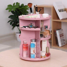 Load image into Gallery viewer, Makeup Organizer 360 Degree Rotation Adjustable Cosmetic Storage Box