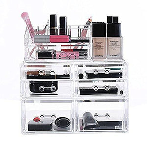 #COMS3566 Stackable Acrylic Makeup Storage Organizer 3 Pieces Set