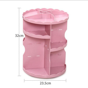 Makeup Organizer 360 Degree Rotation Adjustable Cosmetic Storage Box