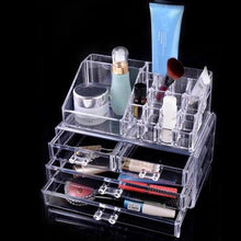 Load image into Gallery viewer, 2Model Acrylic Cosmetic Organizer 3-Layer Lipstick Holder Display Stand Clear Makeup Case Makeup