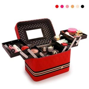 Portable 3 Layer Fold Makeup Organizer