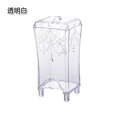 1PCS Makeup Organizers make up cotton transparent plastic storage box container cosmetic remove makeup up Cotton organizer table