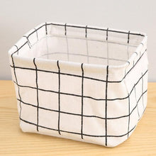 Load image into Gallery viewer, DIY Desktop Organize Folding Linen Toy Cosmetic Organizer Storage Basket