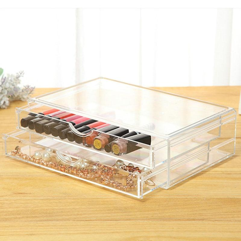 Clear Plastic Cosmetic Makeup Organizer