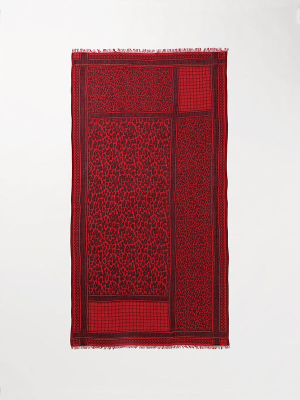 Becksöndergaard, Koel Coja Scarf - Red, scarves, outlet flash sale, outlet flash sale, mid season sale, mid season sale, sale, sale