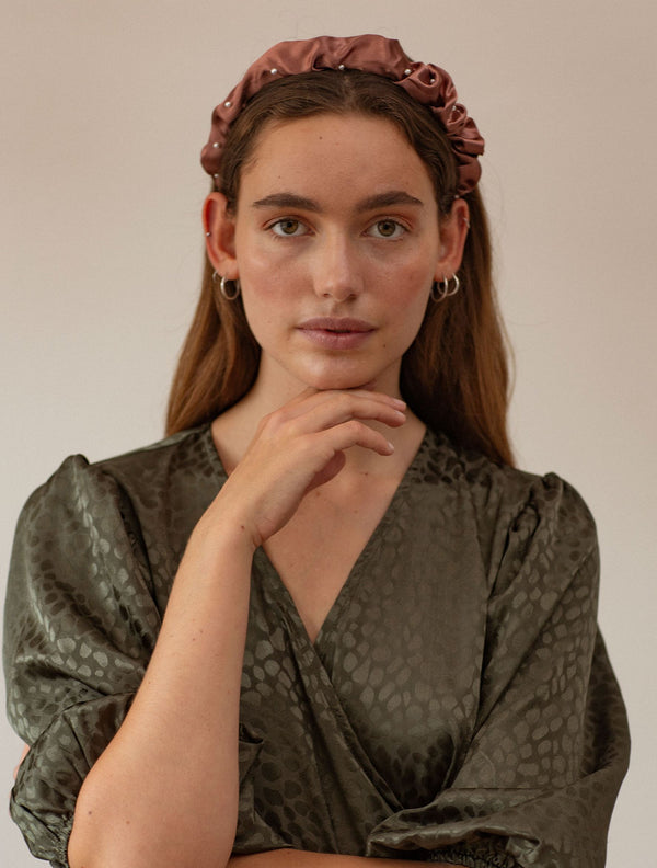 Becksöndergaard, Egeria Satin Hairbrace - Antique Rose, outlet, outlet, sale, sale