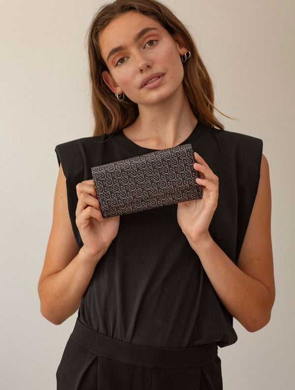 Becksöndergaard, Besra Classic Kantay Wallet - Black, accessories, wallets, accessories, wallets, accessories