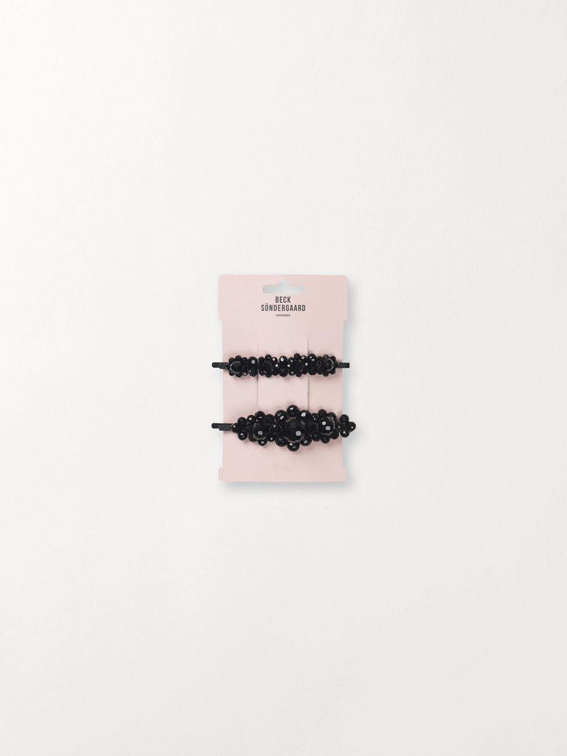 Becksöndergaard, Beaded Glitz Pin  - Black, outlet, outlet