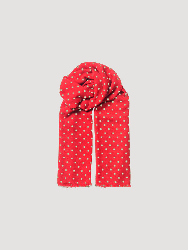 Becksöndergaard, Dot Wica Scarf - Red, scarves, outlet flash sale, outlet flash sale, sale, sale