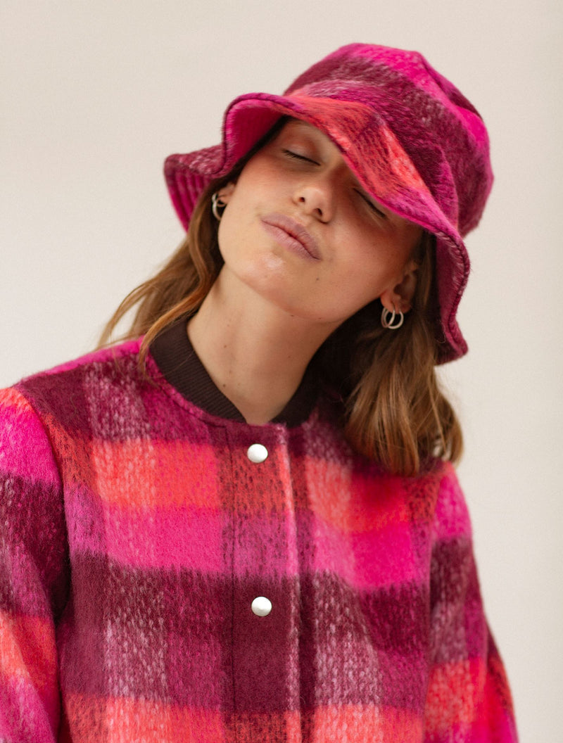 Becksöndergaard, Check Woods Bucket Hat - Pink, sale, sale