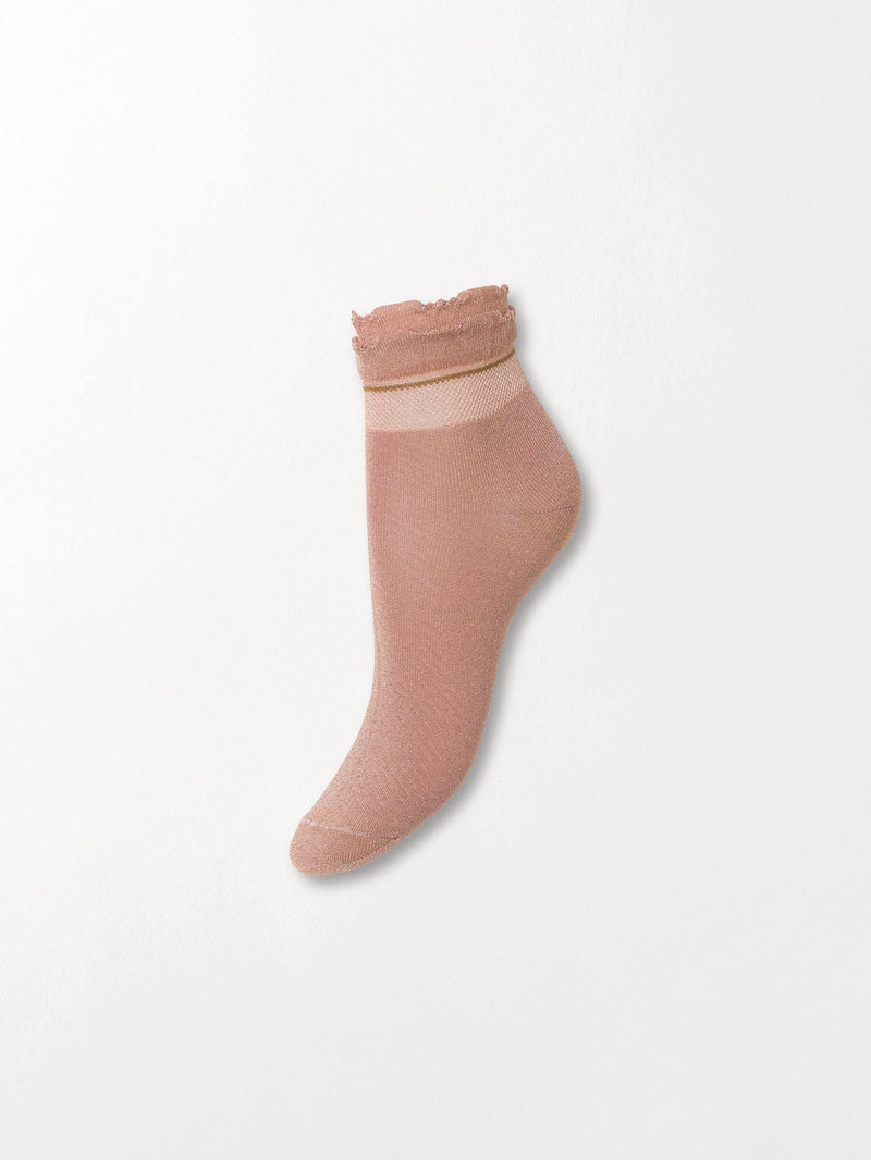 Becksöndergaard, Dollie Frill Sock - Bark, outlet, outlet, sale, sale
