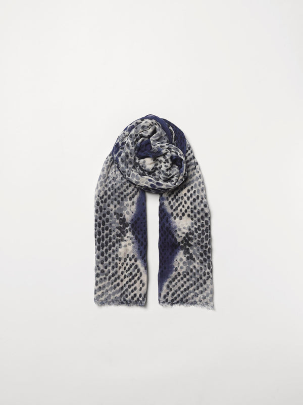 Becksöndergaard, Russel Como Scarf - Blue, scarves, outlet flash sale, outlet flash sale, mid season sale, mid season sale, sale, sale