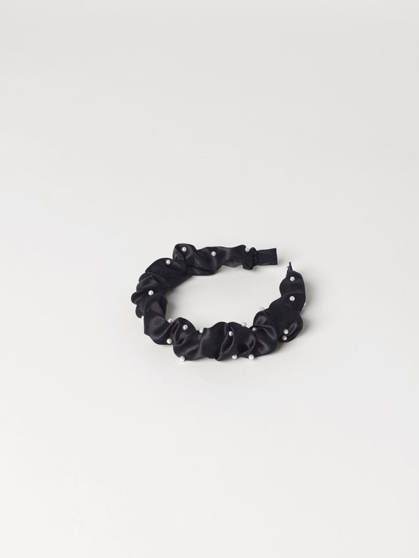 Becksöndergaard, Egeria Satin Hairbrace - Black, accessories, accessories, gifts