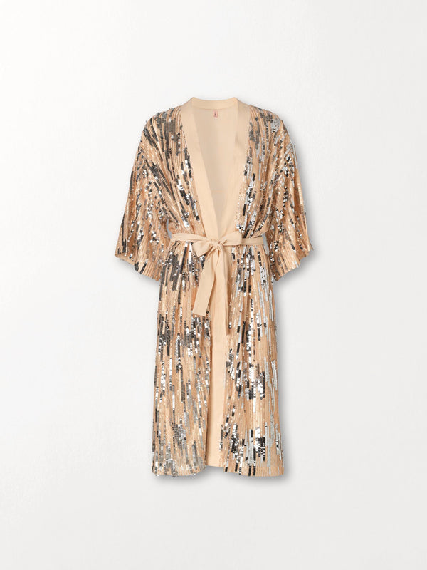 Becksöndergaard, Glitrio Kimono Dress - Beige, outlet flash sale, outlet flash sale, sale, sale