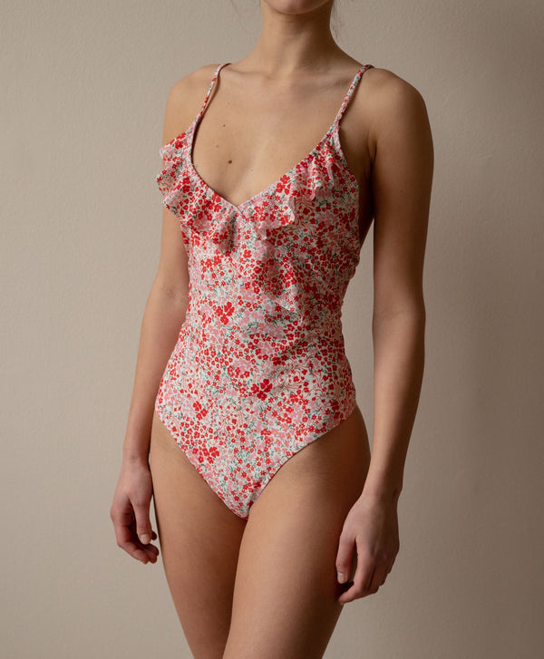 Becksöndergaard, Flofield Frill Swimsuit - Fiery Red, gifts, gifts