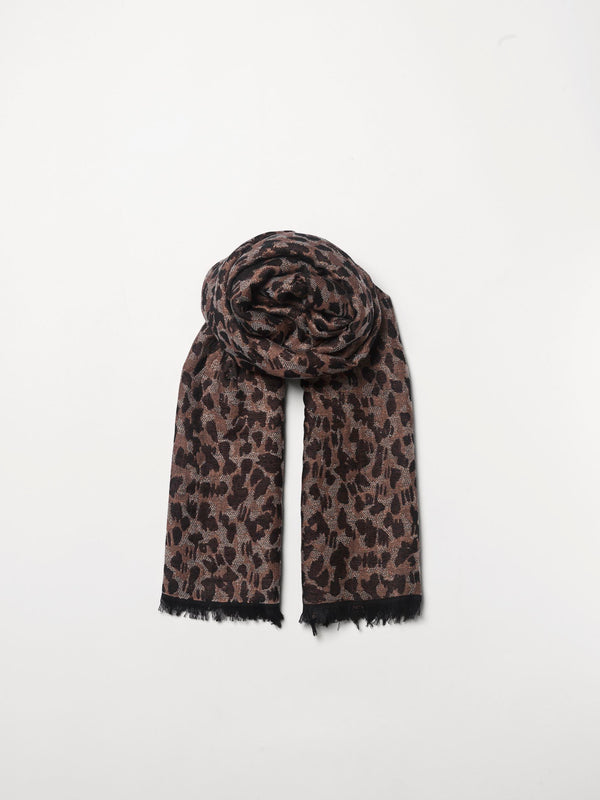 Becksöndergaard, Luraleo Viwo Scarf  - Brownish, scarves, outlet flash sale, outlet flash sale, mid season sale, mid season sale, sale, sale