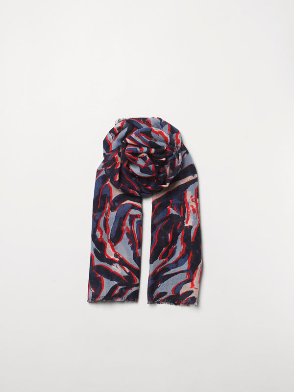 Becksöndergaard, Zetie Siw Scarf - Blue, scarves, outlet flash sale, outlet flash sale, mid season sale, mid season sale, sale, sale