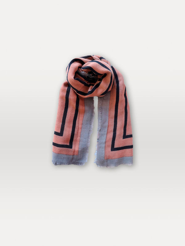 Becksöndergaard, Strillu Wica Scarf - Adobe Rose, scarves, outlet flash sale, outlet flash sale, mid season sale, mid season sale, sale, sale