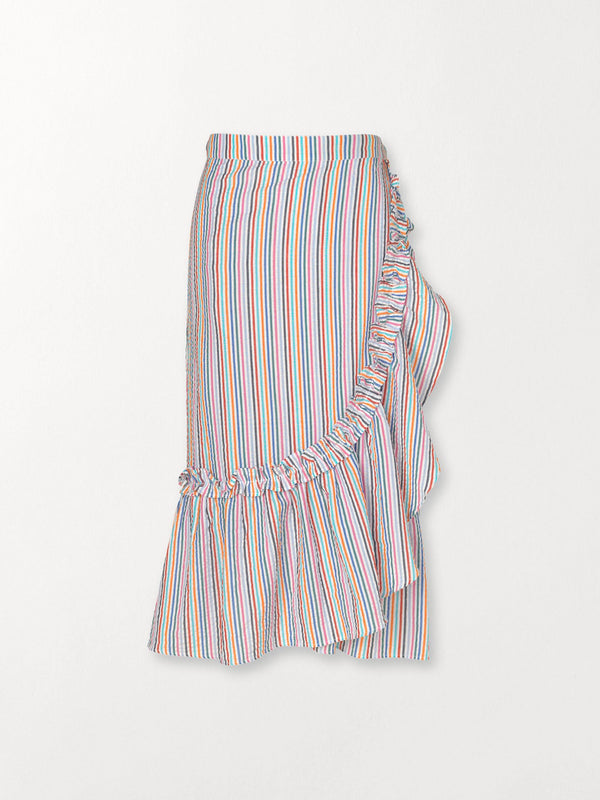 Becksöndergaard, Striped Camillia Long Skirt - Green, clothing, clothing, outlet, outlet